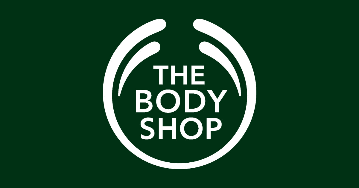 the body shop logo green background